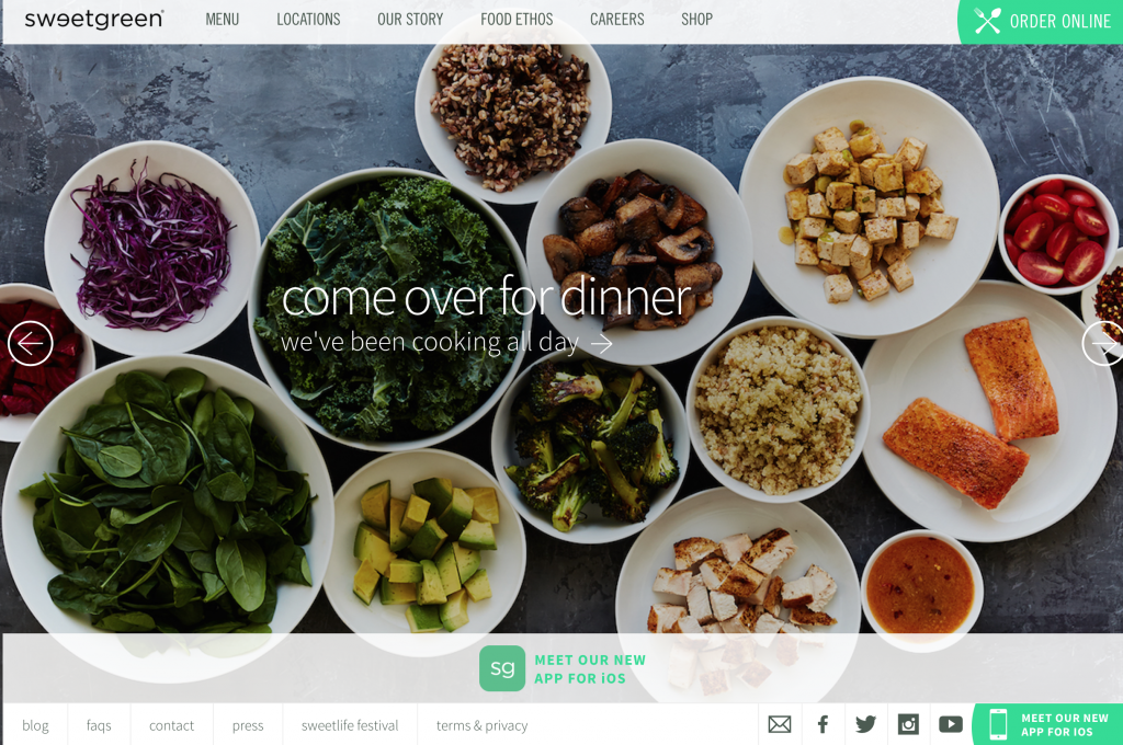 Sweetgreen website.